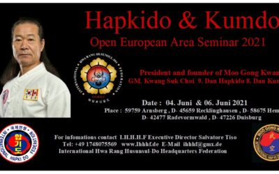 Hapkido & Kumdo Open European Area Seminar 2021
